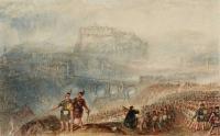 William Turner (������ Ҹ����). Edinburgh Castle marsh of the highlanders